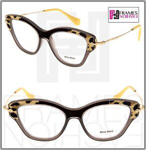 e1a453028fb MIU MIU PAVE STORY MU07OV Eyeglasses Optical Frame Grey Animal Print ...