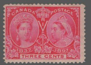 Canada #53 3c  rose MH OG    Queen Victoria  DIAMOND JUBILEE 1897 FINE