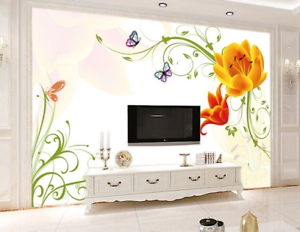 3D Blossom 4611 Wallpaper Murals Wall Print Wallpaper Mural AJ WALL UK Kyra