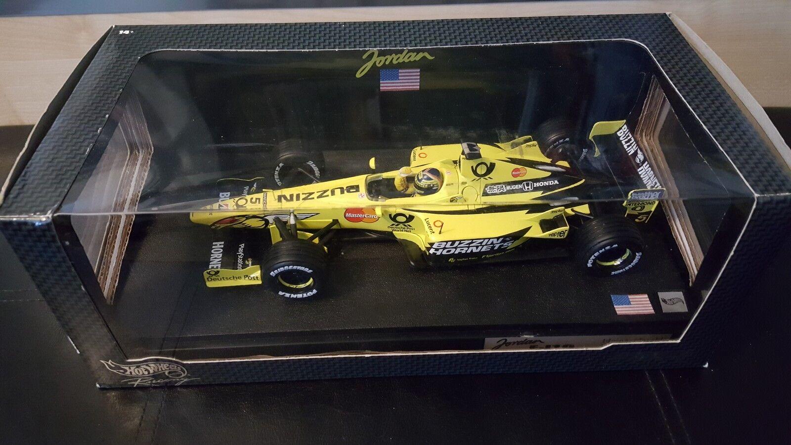 Heinz-Harald Frentzen Hotwheels Jordan Grand Prix EJ10-US - 1 18 DIE CAST MODEL.