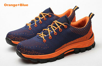 Mens Safety Fashion Shoes Steel Toe Breathable Work Boots Hiking Climbing Shoes