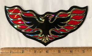 Vintage 1970s Pontiac Firebird Logo Sheet Decal Bumper Sticker Prism Prismatic
