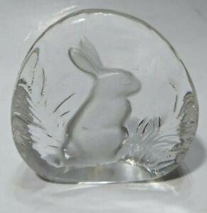 Vtg-1989-Crystal-d-039-Adriana-24-Lead-Crystal-Bunny-Rabbit-Paperweight-Yugoslavia