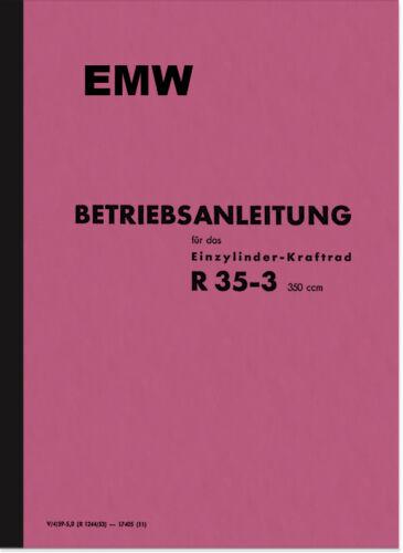 EMW R 35//3 Manuale Manuale Manuale di istruzioni r35//3 user manual r35