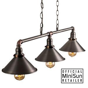 Industrial-Steam-Punk-3-Way-Over-Table-Light-Brass-Nickel-Copper-Indoor-Ceiling