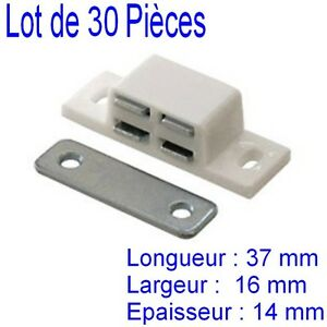 30 loqueteaux magn tique aimant poser meuble placard cuisine porte force 3 kg ebay. Black Bedroom Furniture Sets. Home Design Ideas