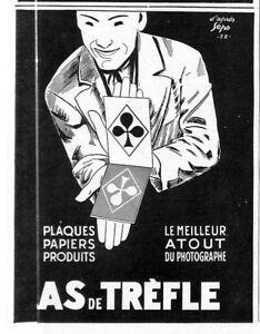 AS-DE-TREFLE-034-PLAQUES-PAPIERS-PHOTOGRAPHIQUES-034-PUBLICITE-ADVERTISING-1928