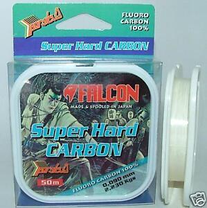 FALCON SUPER HARD CARBON Fluorocarbon 0,448 mm - 50 mt 0,45 - Italia - FALCON SUPER HARD CARBON Fluorocarbon 0,448 mm - 50 mt 0,45 - Italia