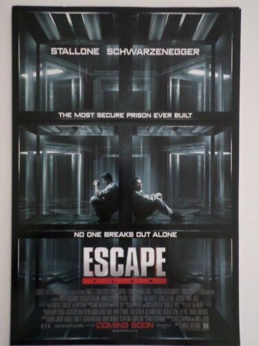 SDCC Comic Con 2013 EXCLUSIVE Escape Plan promo poster Stallone Schwarzenegger