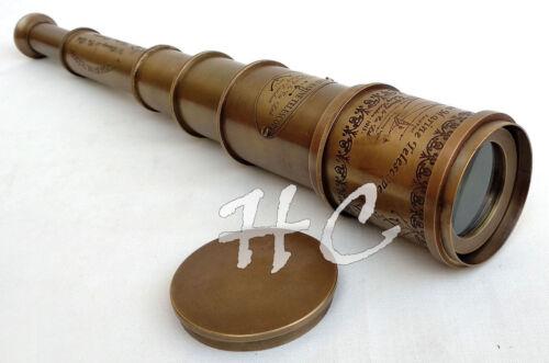 "Vintage Brass Telescope 18/"" Maritime Nautical Brass Spyglass Antique Style Gift"