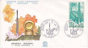 Enveloppe-1er-jour-FDC-n-715-1970-Kourou-Guyane-Ville-Spatiale