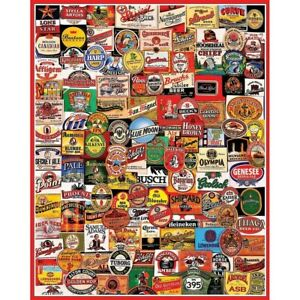 WHITE-MOUNTAIN-Puzzle-Beer-labels-034-CHEERS-034-1000-Piece-Jigsaw-Puzzle