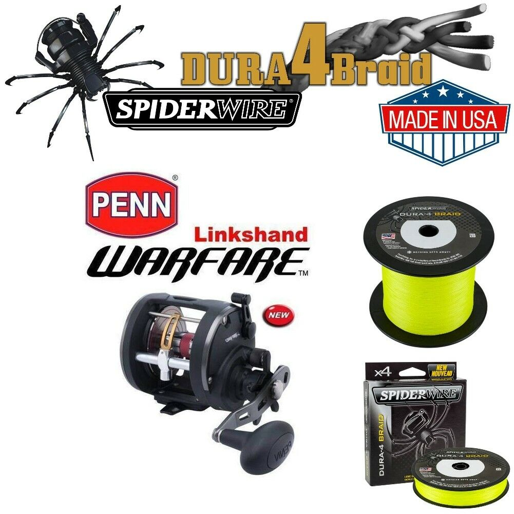 Penn Warfare mano 30 LW-LH BX sinistra mano Warfare + 500m SPIDERWIRE 45 kg b13d51