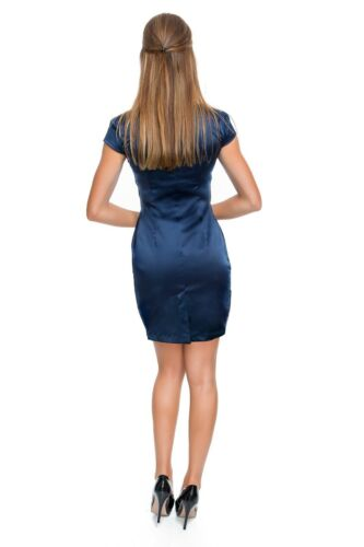 Womens V-Neck Wrap Mini Dress with Pockets Short Sleeves Bodycon Slim Fit FT8513