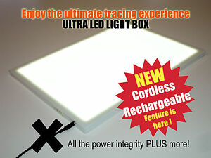 Details about Wireless A3 ULTRA LED Light Box -TRACING DRAWING DESIGN ART  Cordless LIGHT PAD