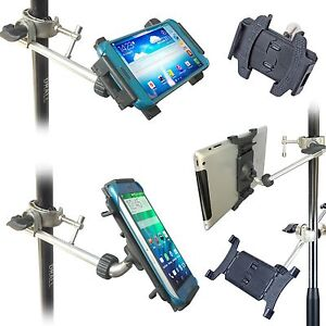 Smartphone-Befestigung-fuer-Mikrofonstaender-ausziehbar-Handy-Tablet-Halter-IP02