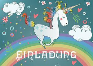 Detalles De Tarjetas Invitación Para Cumpleaños Infantiles Mit Unicornio 6 8 10 12 15 O