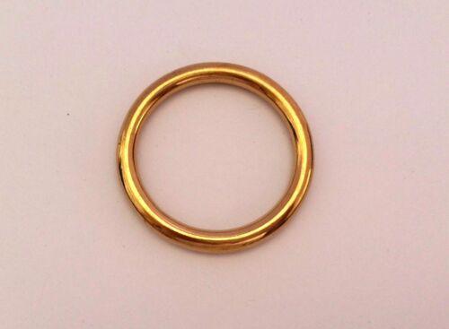 "38mm 1.1//2/"" Welded O Circle Ring Solid Brass Rings Handbag Belt Dog Collar Loop"