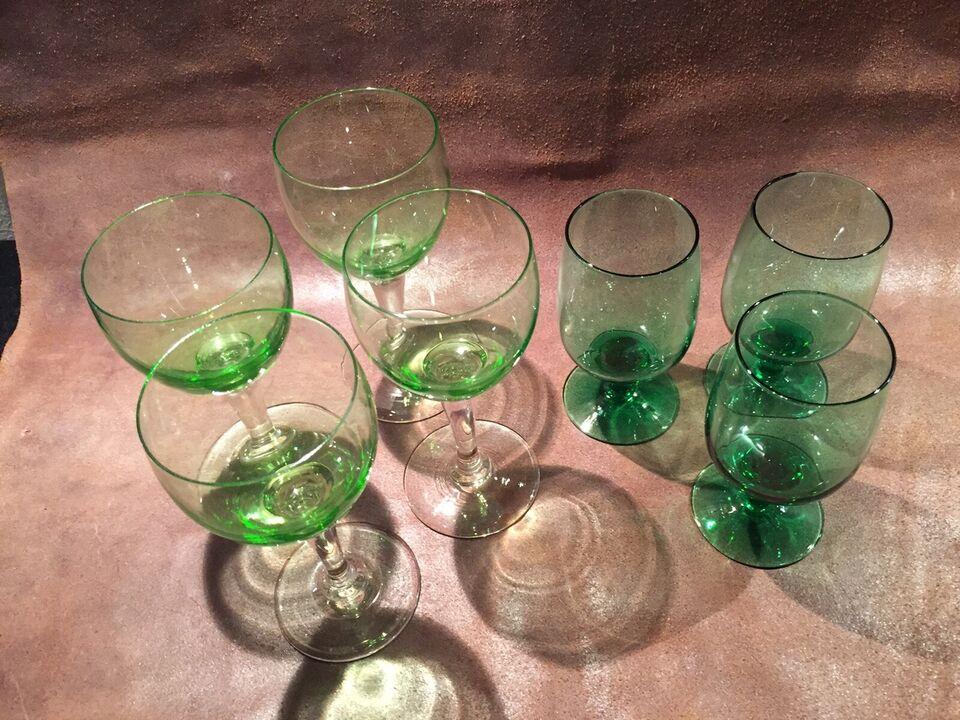 Hyacint Vase og grønne glas, Holmegaard, emne: design