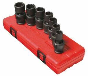 Sunex-7pc-1-2-Metric-6-Point-Universal-Impact-Sockets-Set-Tools-Drive-MM-2655