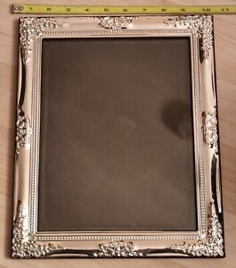 Picture-Frame-Ornate-Silver-Plated