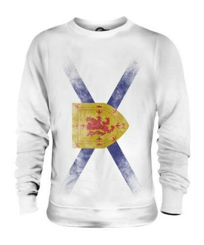 NOVA SCOTIA FADED FLAG UNISEX SWEATER TOP NOVA SCOTIAN SHIRT JERSEY GIFT