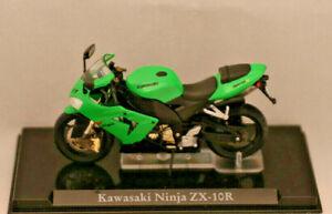 ** Kawasaki Ninja Zx -10 R ** Atlas Collection * Nouveau * échelle: 1:24 * état Modèle **-*maßstab: 1:24*standmodell** Fr-fr Afficher Le Titre D'origine