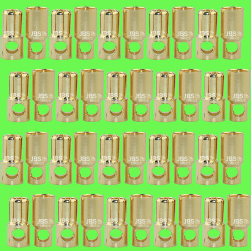 ► 40 Stück 6mm Goldstecker Goldkontaktstecker Lipo Akku LRP Graupner 20 Paar