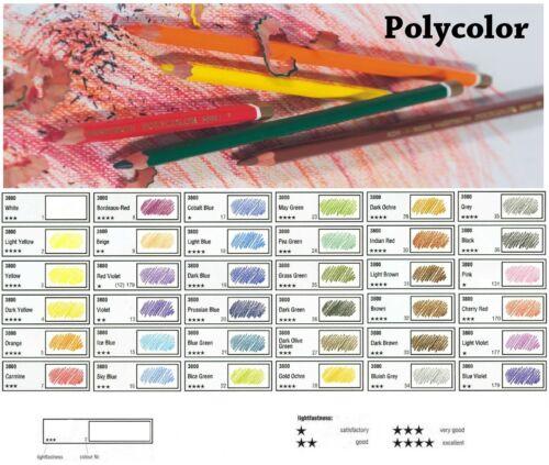 Spitzer Radiergummi KOH-I-NOOR Polycolor 36 Künstlerfarbstifte im Stiftegürtel
