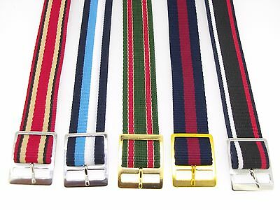 "Watchband Nylon strap 11/16"" 18 mm red white and blue three stripes lot of 25"