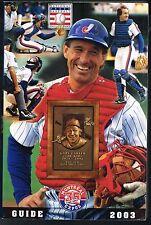 2003 Montreal Expos Baseball MLB Media GUIDE