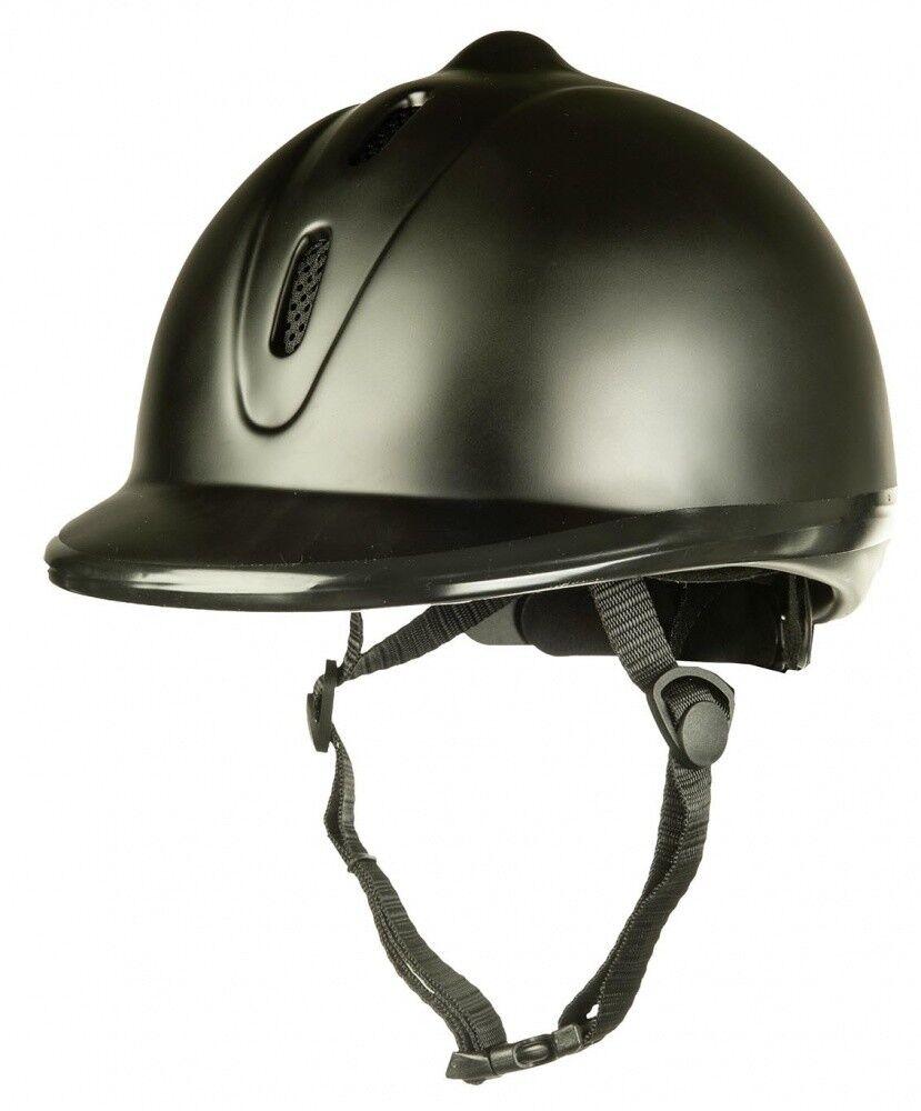 Reithelm Kunststoff glatt (Norm VG1.01.040 2014) HKM black NEU