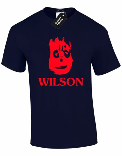 WILSON MENS T SHIRT FANCY DRESS ISLAND FACE HAND LONELY ICONIC STAG CASTAWAY