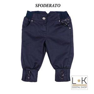 Pantalone in Caldo Cotone Blu Neonata Sarabanda F230