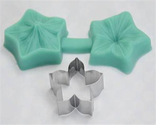 Fleur avec emporte-pièce en acier inoxydable veiner 3d en silicone forme emporte-pièce crème 8tlg