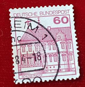 Briefmarke Deutsche Bundespost 60 Pfennig Schloss Rheydt 1977 1a1