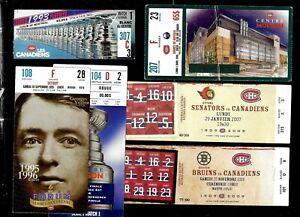 1976-TO-2010-11-MONTREAL-CANADIENS-TICKET-STUB-CENTENNIAL-NHL-HOCKEY-SEE-LIST