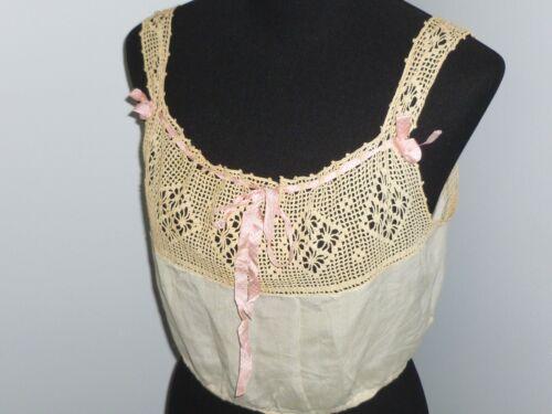 Antique Victorian Camisole Vintage 1900s Silk Blo… - image 1