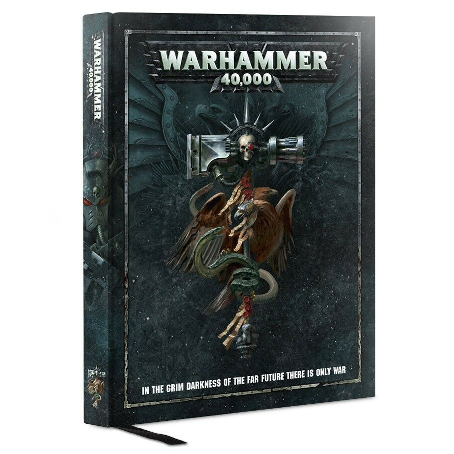 2017 2017 2017    40K   WARHAMMER 40000 8th Edition RULEBOOK Hardcover 14850a