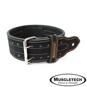 Muscletech-Leather-Weight-Lifting-Belt-Power-Lifting-Fitness-Belt-Gym-Belt