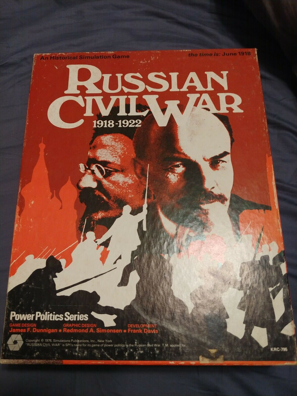 SPI Boxed Wargame Russian Civil War First Edition