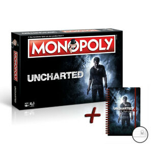 """Monopoly Uncharted Board Game companies + Notebook """"Thief End"""" NEW"""