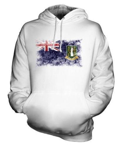 UK VIRGIN ISLANDS DISTRESSED FLAG UNISEX HOODIE TOP GIFT CLOTHING JERSEY