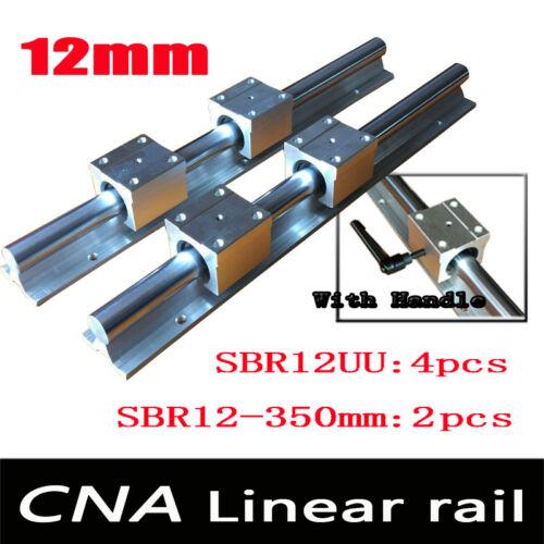 4 pcs SBR12UU blocks 12mm linear rail SBR12 L 350mm support rails 2 pcs