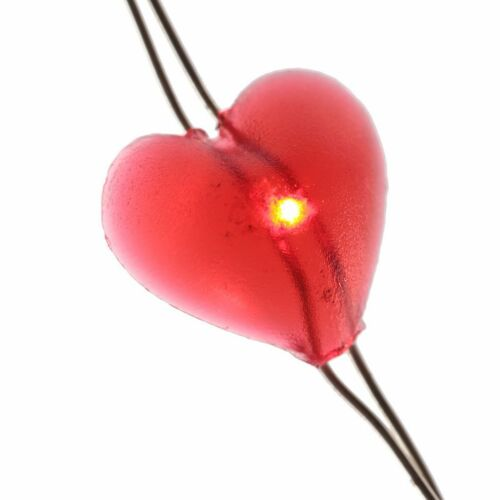 LED Lichterkette Batterie Herzen Schmetterlinge Totenköpfe Deko Dekoration