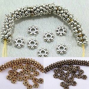 Wholesale-6mm-Antique-Nice-Tone-Daisy-Flower-Shaped-Spacer-Beads-100-Pcs