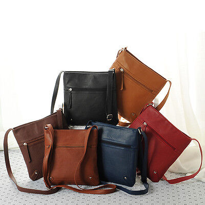 Fashion Womens Leather Satchel Crossbody Shoulder Messenger Bag Handbag Lovely