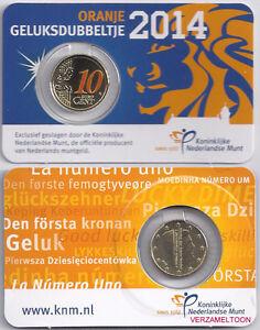 NEDERLAND-GELUKSDUBBELTJE-10-CENT-2014-IN-KLEUR-IN-COINCARD