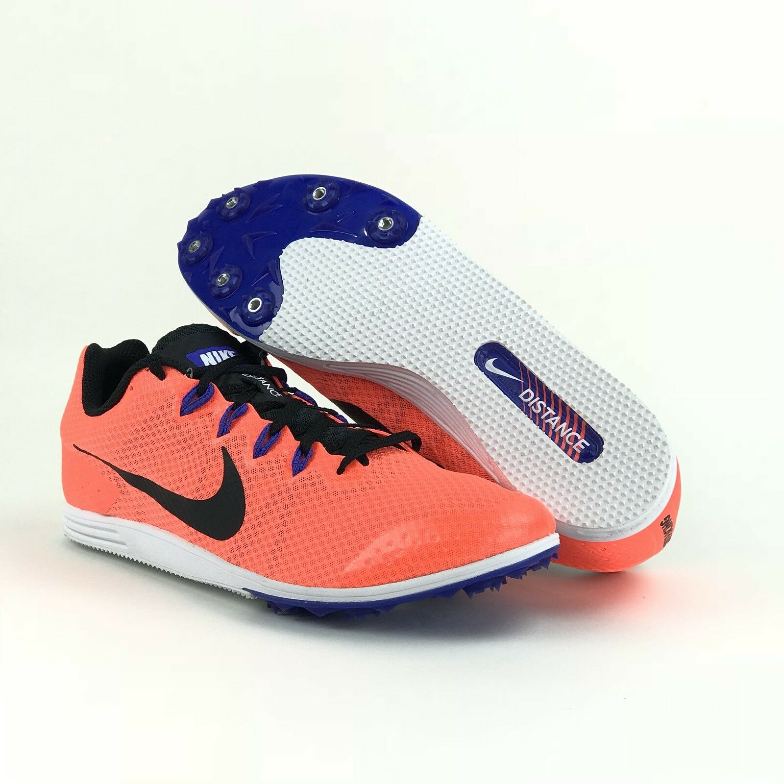 3af8e3462 Nike Racing Mens Mens Mens Rival D Distance Orange Track Running Shoes  Spikes 74725c