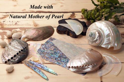 Mother of Pearl Pink Flower Desk Table Folding Purse Caddy Handbag Hanger Hook